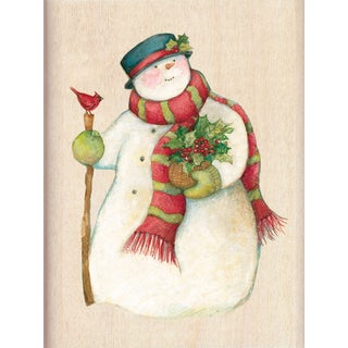 "Inkadinkado Christmas Mounted Rubber Stamp-Snowman 2.25""X3"""