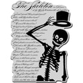 Stampendous Halloween Cling Rubber Stamp-Skeleton Poem