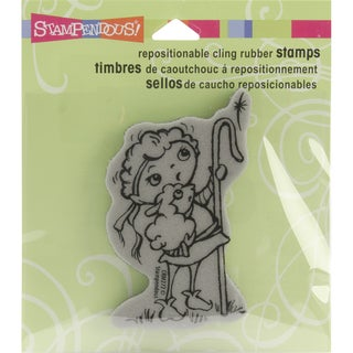 Stampendous Christmas Cling Rubber Stamp-Shepherd Kiddo