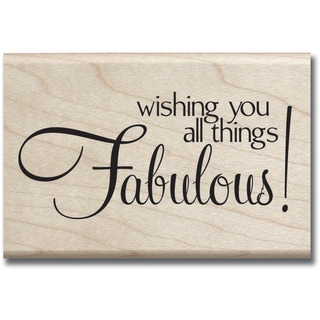 "Mounted Rubber Stamp 2.5""X2.5""-Fabulous"