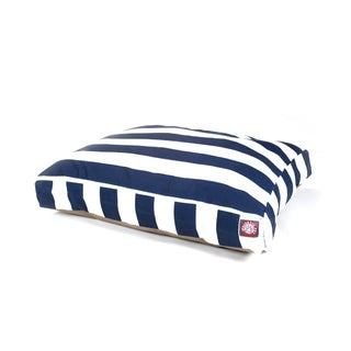Majestic Pet Navy Blue Vertical Stripe Rectangle Pet Bed