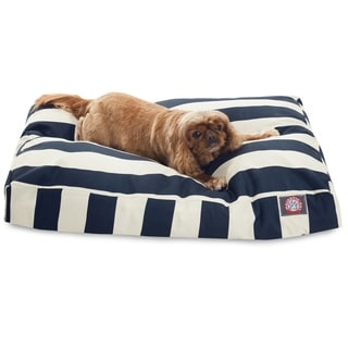 Majestic Pet Navy Blue Vertical Stripe Rectangle Dog Bed
