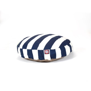 Majestic Pet Navy Blue Vertical Stripe Round Pet Bed