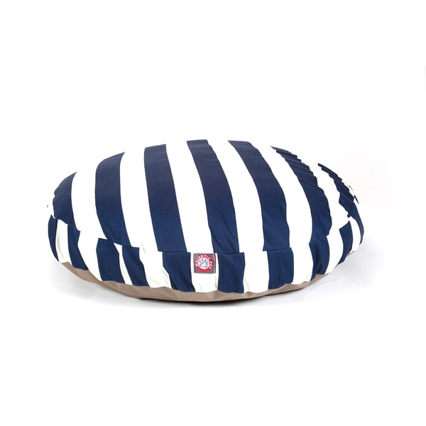 Majestic Pet Outdoor Indoor Vertical Stripe Round Dog Bed