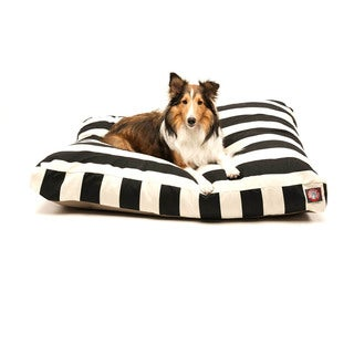 Majestic Pet Black Vertical Stripe Rectangle Pet Bed