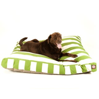 Majestic Pet Sage Vertical Stripe Rectangle Pet Bed