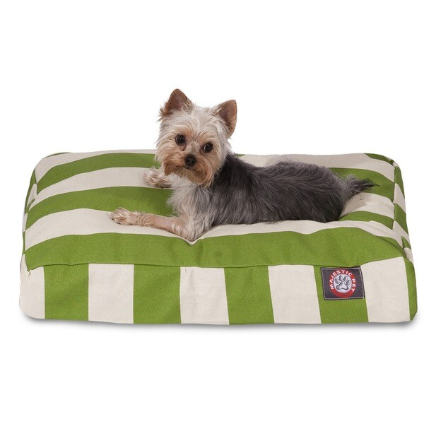 Majestic Pet Sage Vertical Stripe Rectangle Dog Bed Medium Size in Sage(As Is Item)