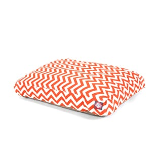 Majestic Pet Burnt Orange Chevron Rectangle Pet Bed