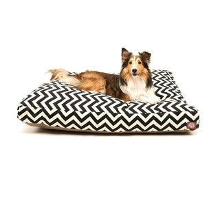 Majestic Pet Black Zig Zag Rectangle Pet Bed