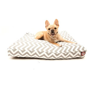 Majestic Pet Grey Zig Zag Rectangle Pet Bed