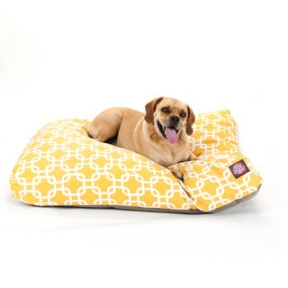 Majestic Pet Yellow Links Rectangle Pet Bed