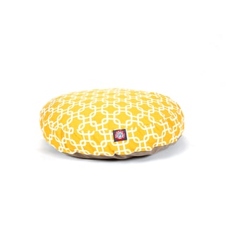Majestic Pet Yellow Links Round Pet Bed
