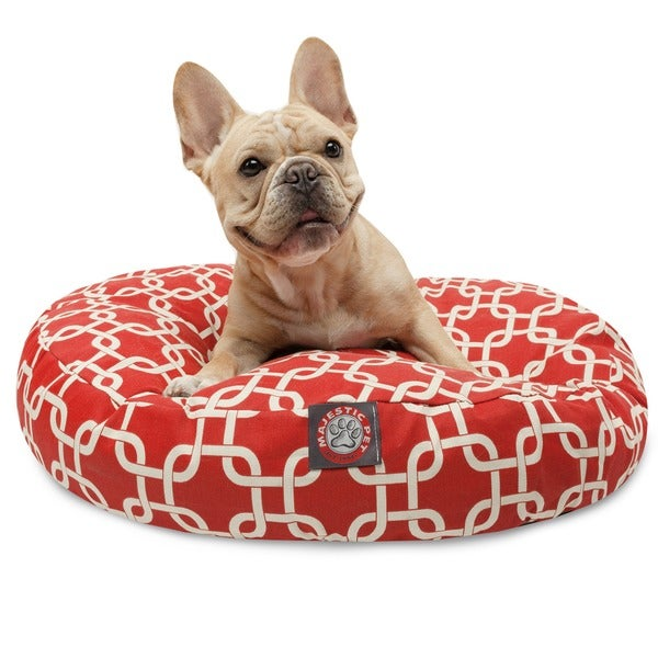 Majestic Pet Red Links Round Pet Bed