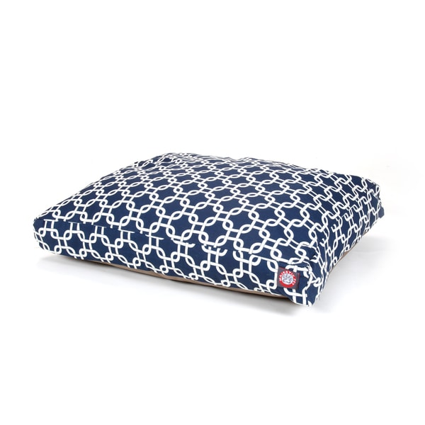 Majestic Pet Navy Blue Links Rectangle Pet Bed