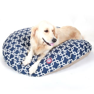 Majestic Pet Navy Blue Links Round Pet Bed