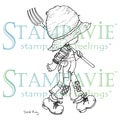 Stampavie Sarah Kay Clear Stamp-Gardens Need Many Helpers