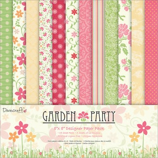 Garden Party Paper Pack 8X8in 48 Sheets