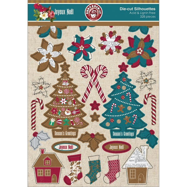 Joyeux Noel Silhouettes Die-Cuts 328/Pkg