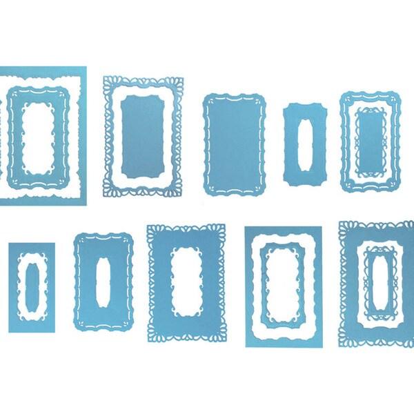 Spellbinders Nestabilities Majestic Elements Dies-Resplendent Rectangles