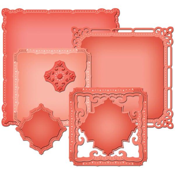 Spellbinders Nestabilities Majestic Elements Dies-Marvelous Squares
