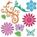 Spellbinders Shapeabilities Dies-Jewel Flowers And Flourishes