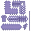 Spellbinders Shapeabilities Cut, Fold & Tuck Die-Diamond Strips And Accents