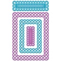 Spellbinders Nestabilities A2 Card Creator Dies-Fancy Weave