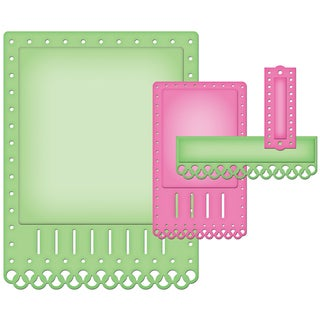 Spellbinders Nestabilities A2 Card Creator Dies-Fancy Ribbon Threader