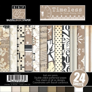 "Timeless Multi-Pack Paper 6""X6"" 24/Sheets-6 Double-Sided Designs/4 Each"
