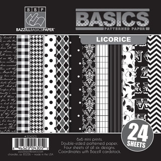 "Basics/Licorice Multi-Pack Paper 6""X6"" 24/Sheets-6 Double-Sided Designs/4 Each"