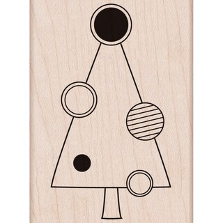 """Hero Arts Mounted Rubber Stamps 3.75""""X3.25""""-Tree With Circle"""