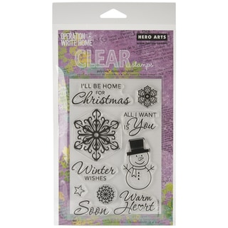 """Hero Arts Clear Stamps 4""""x6"""" Sheet-Winter Wishes"""