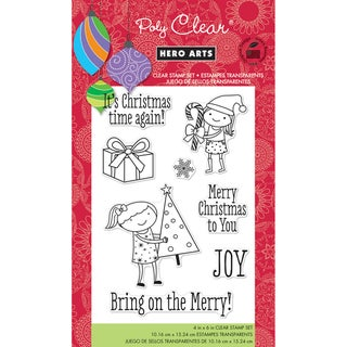 """Hero Arts Clear Stamps 4""""x6"""" Sheet-Bring On The Merry"""
