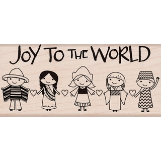 Hero Arts Mounted Rubber Stamps-Joy To The World