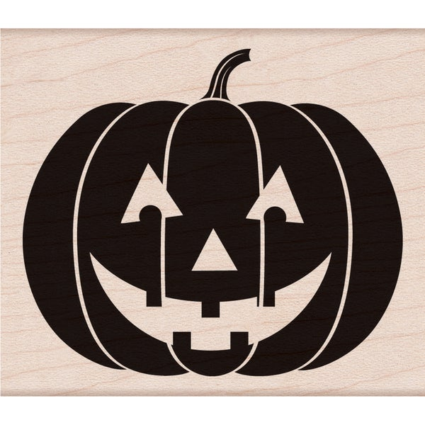 """Hero Arts Mounted Rubber Stamps 3.75""""X3.25""""-Scary Pumpkin"""