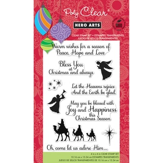 "Hero Arts Clear Stamps 4""x6"" Sheet-Heavens Rejoice"