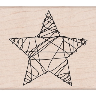 Hero Arts Mounted Rubber Stamps-Wire Star