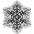 Hero Arts Cling Stamps-Dotted Snowflake