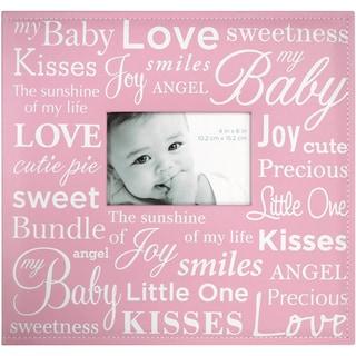 """Baby Expression Post Bound Album 12""""X12""""-Pink"""