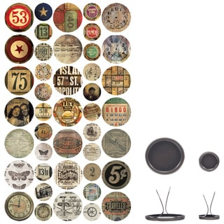 Idea-Ology Custom Fasteners 2 Sizes 24/Pkg-43 Icon/Number & 43 Epoxy Stickers