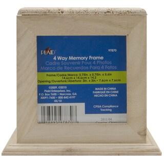 "4-Way Wood Memory Frame 5-3/4""X5-3/4""X5-1/2""-"