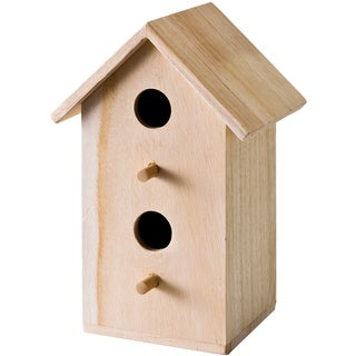 Wood Tall Rectangle Bird House 6