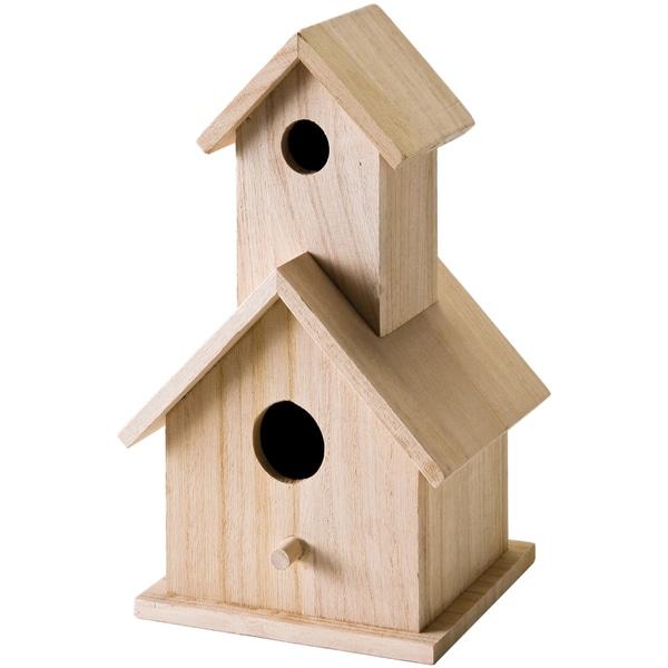 """Wood Two Story Birdhouse 5-1/2""""X9""""X4-1/2""""-"""