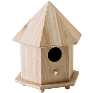 Wood Gazebo Birdhouse 6-3/4
