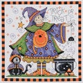 "Trick Or Treat Counted Cross Stitch Kit-8""X8"" 14 Count"