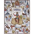 "Cowboy ABC Counted Cross Stitch Kit-16""X20"" 14 Count"