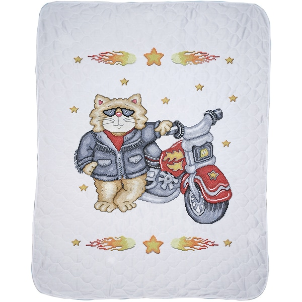 "Born To Be Wild Baby Quilt Stamped Cross Stitch Kit-34""X43"""