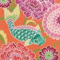 "Koi With Flowers Needlepoint Kit-14""X14"" Stitched In Wool & Thread"