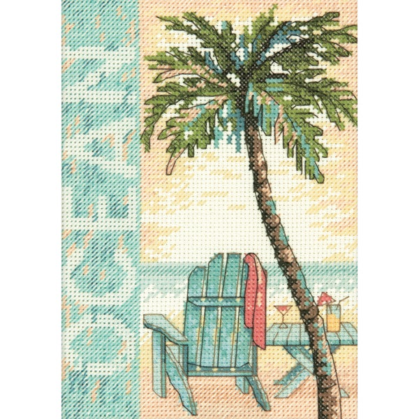 "Ocean Mini Counted Cross Stitch Kit-5""X7"" 14 Count 10317360"