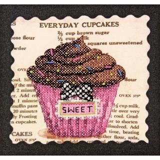 "Everyday Cupcakes Mini Stamped Cross Stitch Kit-6""X6"""